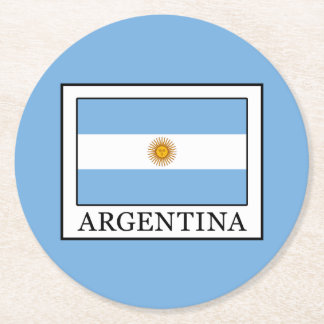 Argentina Round Paper Coaster