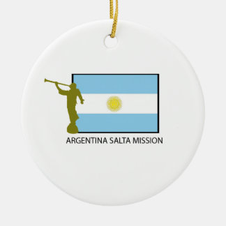 ARGENTINA SALTA MISSION LDS ROUND CERAMIC ORNAMENT