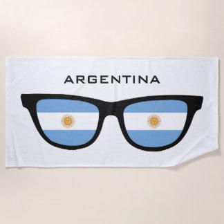 ARGENTINA Shades custom text beach towel