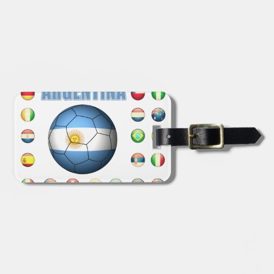 Argentina Soccer 0335 Luggage Tag