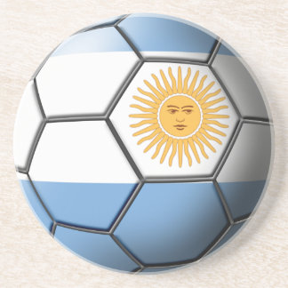 Argentina Soccer Ball Coasters