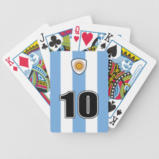 Argentina soccer bicycle playing cards