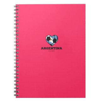 Argentina Soccer Shirt 2016 Spiral Notebooks
