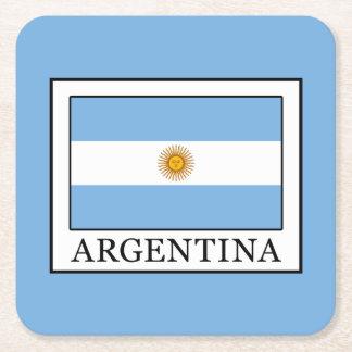 Argentina Square Paper Coaster