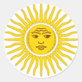Argentina Sun Classic Round Sticker