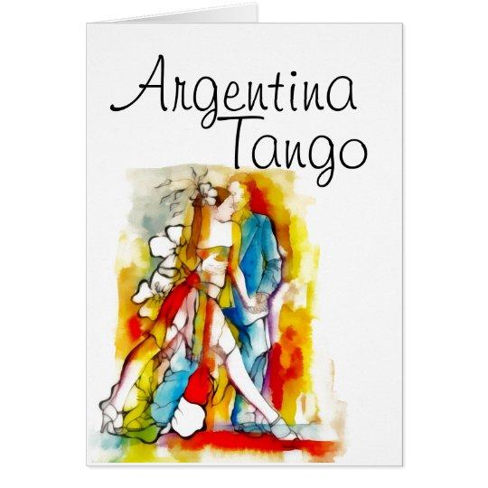 Argentina tango card