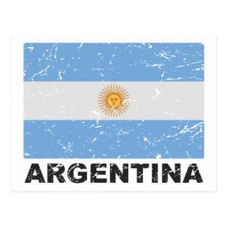 Argentina Vintage Flag Postcard