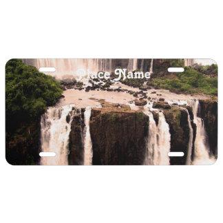 Argentina Waterfalls License Plate