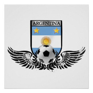 Argentina world champions Winged futbol shield Poster