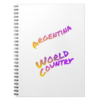Argentina world country, colorful text art notebook