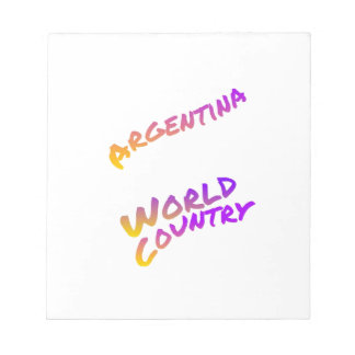 Argentina world country, colorful text art notepad