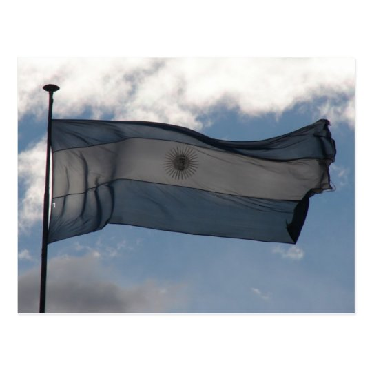 Argentina's Flag Postcard