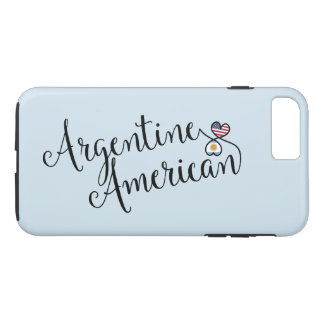Argentine American Entwined Hearts Cell Phone Case