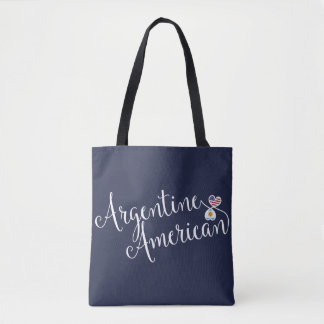 Argentine American Entwined Hearts Grocery Bag