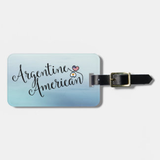 Argentine American Entwined Hearts Luggage Tag