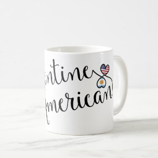 Argentine American Entwined Hearts Mug
