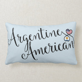 Argentine American Entwined Hearts Throw Cushion