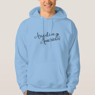 Argentine American Entwinted Hearts Hoodie
