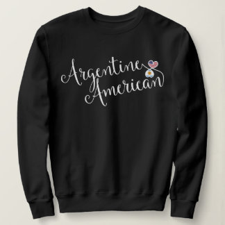 Argentine American Entwinted Hearts Sweatshirt