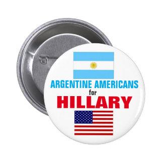 Argentine Americans for Hillary 2016 2 Inch Round Button