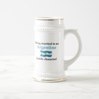 Argentine Builds Character 18 Oz Beer Stein