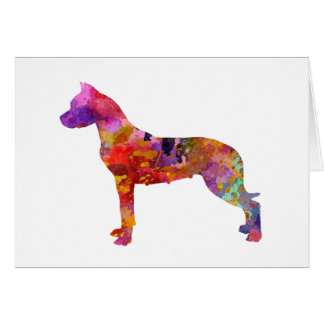 Argentine bulldog 01 in watercolor-2 card