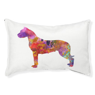 Argentine bulldog 01 in watercolor-2 pet bed