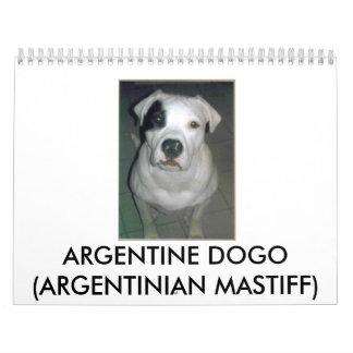 Argentine Dogo Calendars