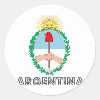 Argentine Emblem Classic Round Sticker