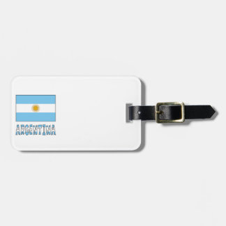 Argentine Flag and Argentina Luggage Tag