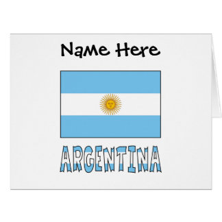 Argentine Flag and Argentina with Name Card