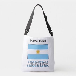 Argentine Flag and Argentina with Name Crossbody Bag