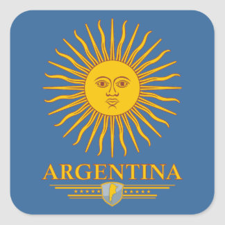 """Argentine Sun"" Square Sticker"