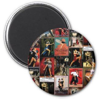 Argentine tango 2 inch round magnet
