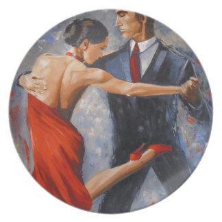 Argentine tango party plates
