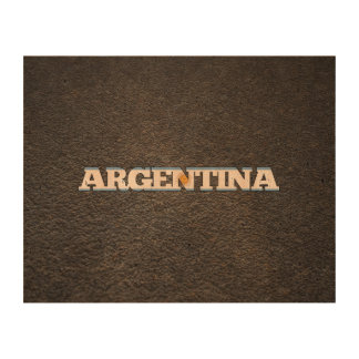 Argentinean name and flag photo cork paper