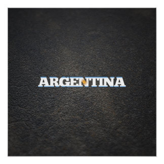 Argentinean name and flag perfect poster