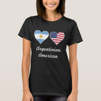 Argentinian American Flag Hearts T-Shirt