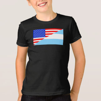 Argentinian American Flag T-Shirt