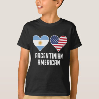 Argentinian American Heart Flags T-Shirt