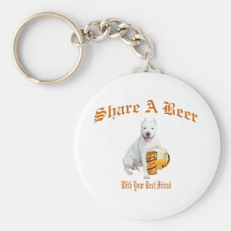 Argentinian Dogo Shares Beer Keychain