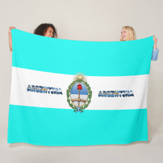 Argentinian flag fleece blanket