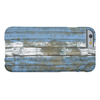 Argentinian Flag on Rough Wood Boards Effect Barely There iPhone 6 Case