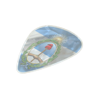 Argentinian flag pearl celluloid guitar pick