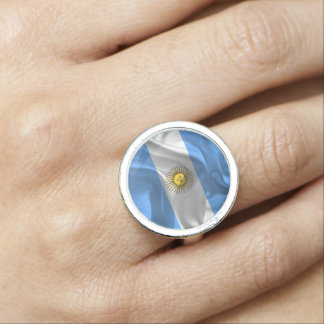 Argentinian flag photo ring