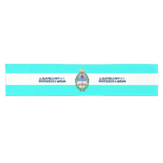 Argentinian flag short table runner