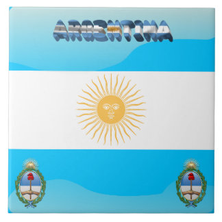 Argentinian flag tile