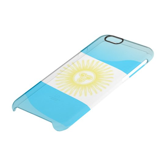 Argentinian glossy flag clear iPhone 6/6S case