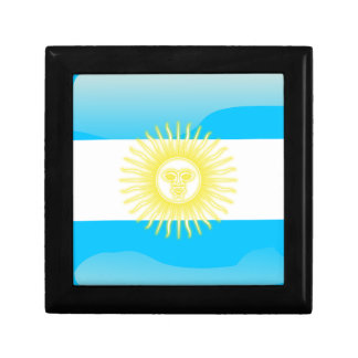 Argentinian glossy flag jewelry box