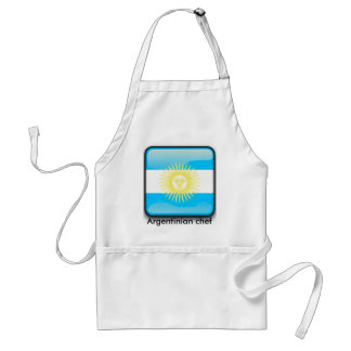 Argentinian glossy flag standard apron